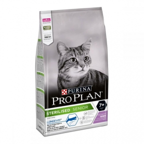 Про План сухой корм с индейкой и рисом для кастрированных котов 7+