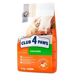 Клуб 4 лапы Премиум для котят курица 5кг