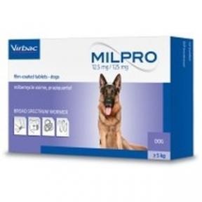 Милпро для собак и щенков мильбемицин, 4 таблетки Вирбак