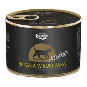 Dolina Noteci Natural Taste Kitten мясные кусочки с курицей Консервы для котов 185 г