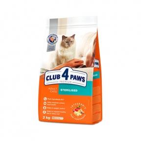 Клуб 4 лапы Премиум для стерилизованных котов 14кг