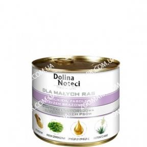 Dolina Noteci Premium Dog кролик, фасоль, рис для мелких пород 185 г