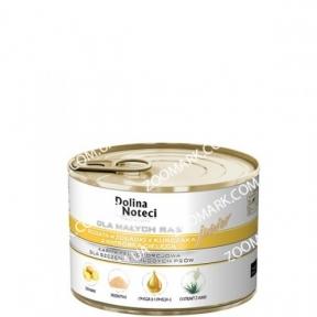 Dolina Noteci Premium Dog куриный желудок и печень теленка для щенков и юниоров мелких пород 185 г