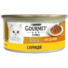 Gourmet Gold де-люкс в соусе с курицей 85 г