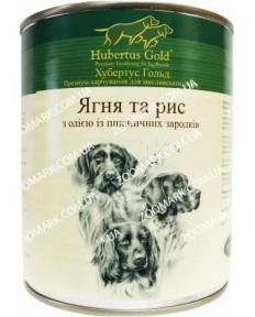 Hubertus Gold  Ягнёнок/Рис консервы для собак 800 г