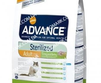 Advance Sterilized для стерилизованных котов с индейкой