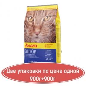 Josera DailyCat беззерновой корм для кошек 400г+400г