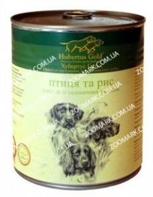 Hubertus Gold Птица/Рис консервы для собак 800 г