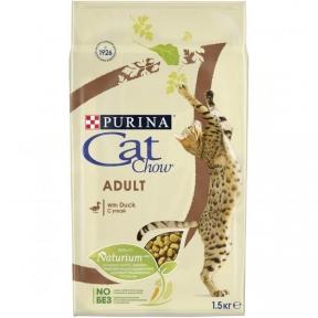 CAT CHOW  сухой корм для взрослых кошек с уткой
