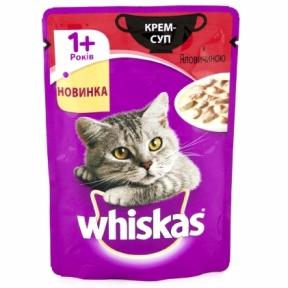 Вискас консервы для кошек Крем-суп с говядиной 85 г