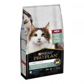 Pro Plan LiveClear Sterilised Senior Turkey корм для стерилизованных котов старше 7 лет для уменьшения аллергенов на шерсти с индейкой 1,4кг