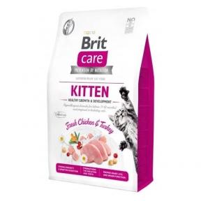 Brit Care Cat Grain Free Kitten Growth and Development сухой корм с курицей и индейкой для котят
