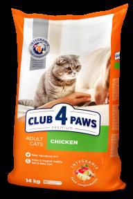 Клуб 4 лапы Премиум для котов курица 14кг