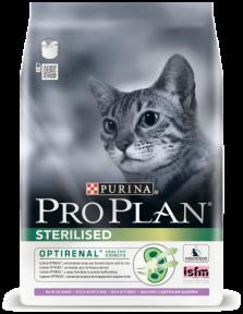 PRO PLAN Sterilised для стерилизованных кошек с лососем и рисом