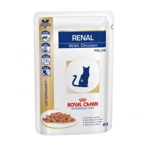 Royal Canin Renal Feline Chicken (Роял Канин Ренал Фенили) с хронической почечной недостаточностью 85 г