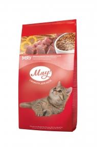 Мяу корм для котов индейка и садовая травка 14кг 2610