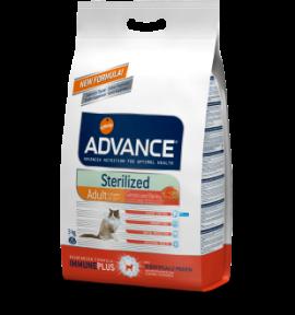 Advance для стерилизованных котов Сенсетив с лососем 10,0 кг