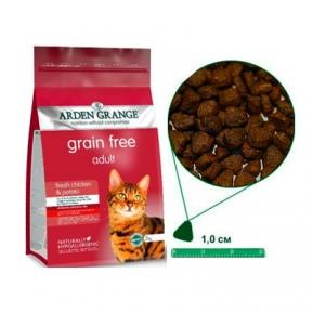 Arden Grange (Арден Грендж) для кошек беззерновой курица/картофель 0,4кг