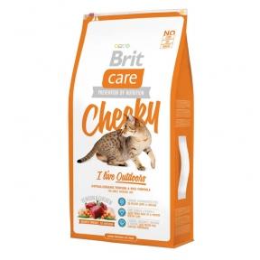 Brit Care Cat Cheeky Сухой корм для кошек живущих на улице 7+2кг