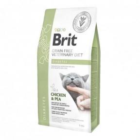 Brit Cat Diabets VetDiets -сухой корм для кошек при сахарном диабете 2 кг