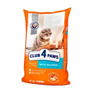 Клуб 4 лапы Премиум для взрослых котов с лососем 14кг