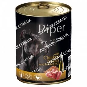 Консервы Piper Dog куриное сердце и коричневый рис