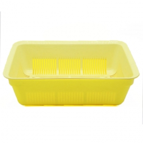 Туалет Днепр глубокий с сеткой 40*27*13 желто-бежевый
