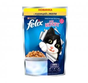 Felix (Феликс) консервы для котят курица в желе