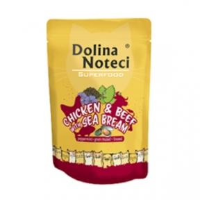 Dolina Noteci Premium Superfood Пауч для котов курица, говядина, дорадо 85гр 304746