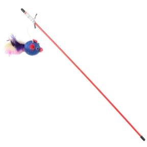 Удочка-дразнилка Мяч зефирный с пером