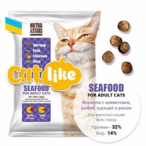 Cat Like Seafood с креветкой для котов 10кг