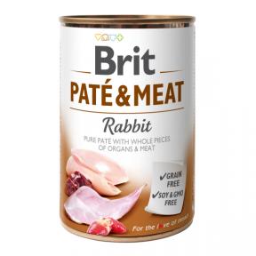 Brit Pate & Meat Dog консерва для собак с кроликом 400г