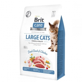 Brit Care Cat Grain-Free Large Cats Power and Vitality 2кг + лакомство Brit Care Cat