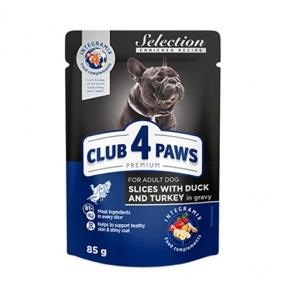 Клуб 4 лапы Премиум консервы для собак малых пород утка и индейка в соусе 85г 3808