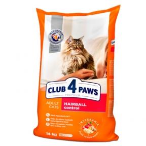 Клуб 4 лапы Премиум для котов выведения шерсти14кг