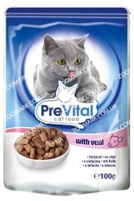 Консерва PreVital с телятиной в соусе 100 гр