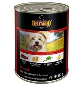 Белкандо Говядина с картофелем и горошком Консервы для собак 0.8кг