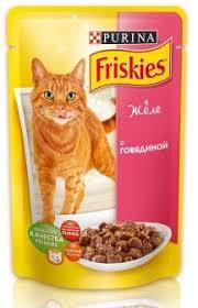 Friskies говядина в желе для кошек 100 г