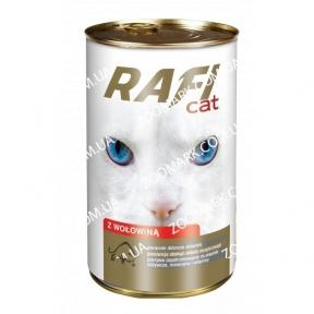 RafiCat кусочки говядины в соусе консервы для кошек 415 г