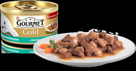 Gourmet Gold в соусе с лососем и цыпленком