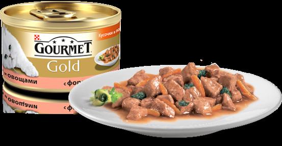 Gourmet Gold с форелью и овощами