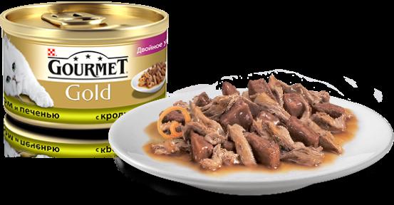 Gourmet Gold в соусе с кроликом и печенью