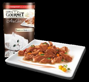 Gourmet Ala Carte говядина c овощами в подливе