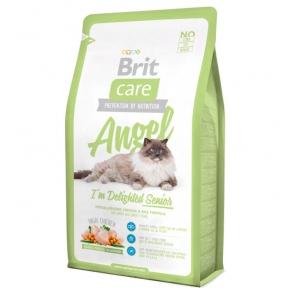 Brit Care Cat Angel Senior Сухой корм для пожилых кошек 7+2кг