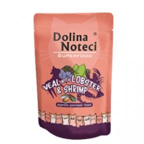 Dolina Noteci Premium Superfood Пауч для котов телятина, лобстер, креветка 85гр 304739