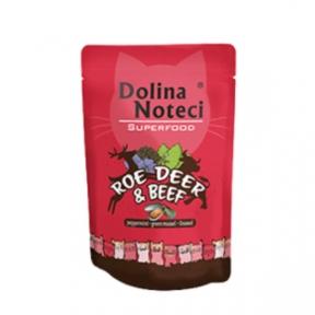 Dolina Noteci Premium Superfood Пауч для котов косуля, говядина 85гр 304722