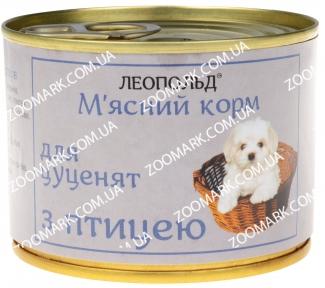 Леопольд для щенков с мясом птицы 190 гр