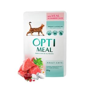 Optimeal Телятина в клюквенном соусе консервы для кошек 85 г
