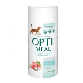 Optimeal с индейкой и овсом для стерилизованых котов