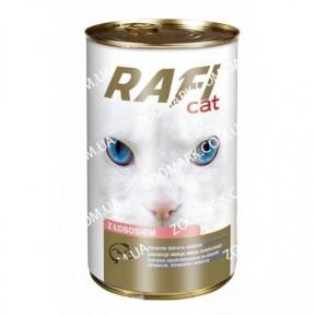 RafiCat кусочки лосося в соусе консервы для кошек 415 г